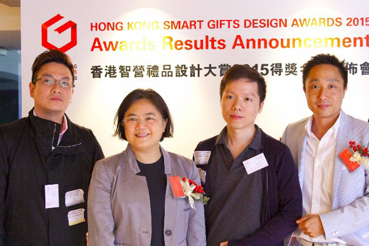 From left to right : Mr. Fai Leung, Ms. Agatha Tsang (Honorary President) , Mr. Michael Choi and Mr, Steve Yeung (President)